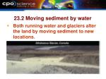 23 2 moving sediment by water