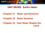 unit seven earth s water