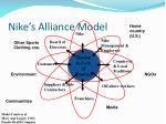 nike s alliance model