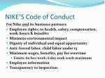 nike s code of conduct