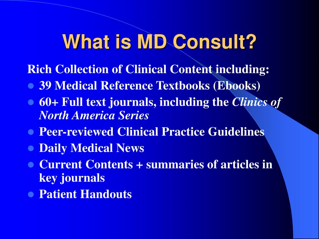 what is md consult l.