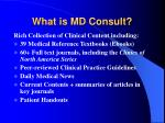 what is md consult