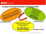 european commission initiatives in the nuclear field