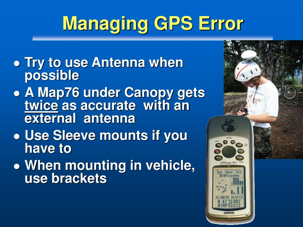 Managing GPS Error
