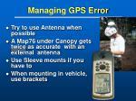 managing gps error23