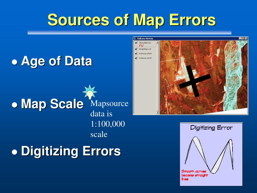 Sources of Map Errors