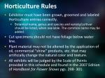 horticulture rules
