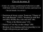 class decorum ii