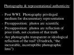 photography representational authenticity