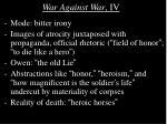 war against war iv