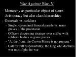 war against war v