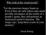 why look at the visual record