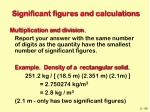 significant figures and calculations46