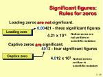 significant figures rules for zeros