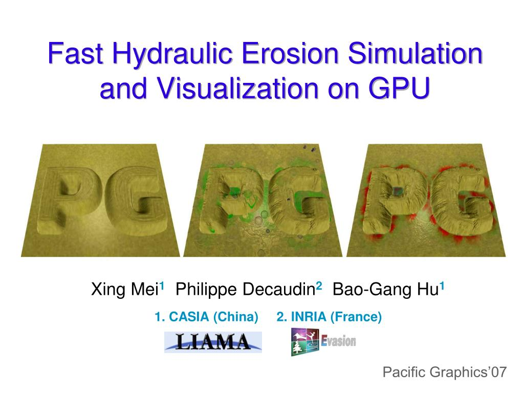 fast hydraulic erosion simulation and visualization on gpu l.