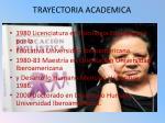 trayectoria academica