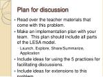 plan for discussion