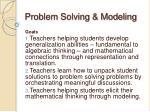 problem solving modeling