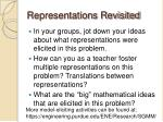 representations revisited