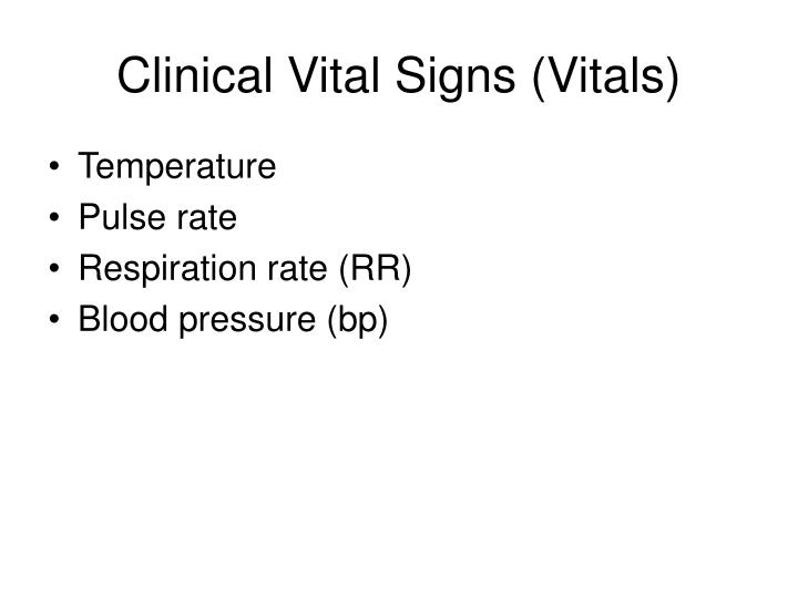 Ppt Introduction To Vital Signs And Basic Laboratory Tests