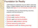 foundation for reality
