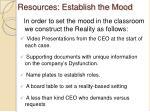 resources establish the mood