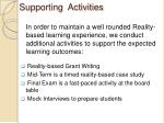 supporting activities