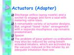 actuators adapter