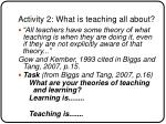 activity 2 what is teaching all about