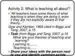 activity 2 what is teaching all about13