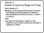 activity 3 models of teaching biggs and tang