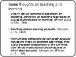 some thoughts on teaching and learning