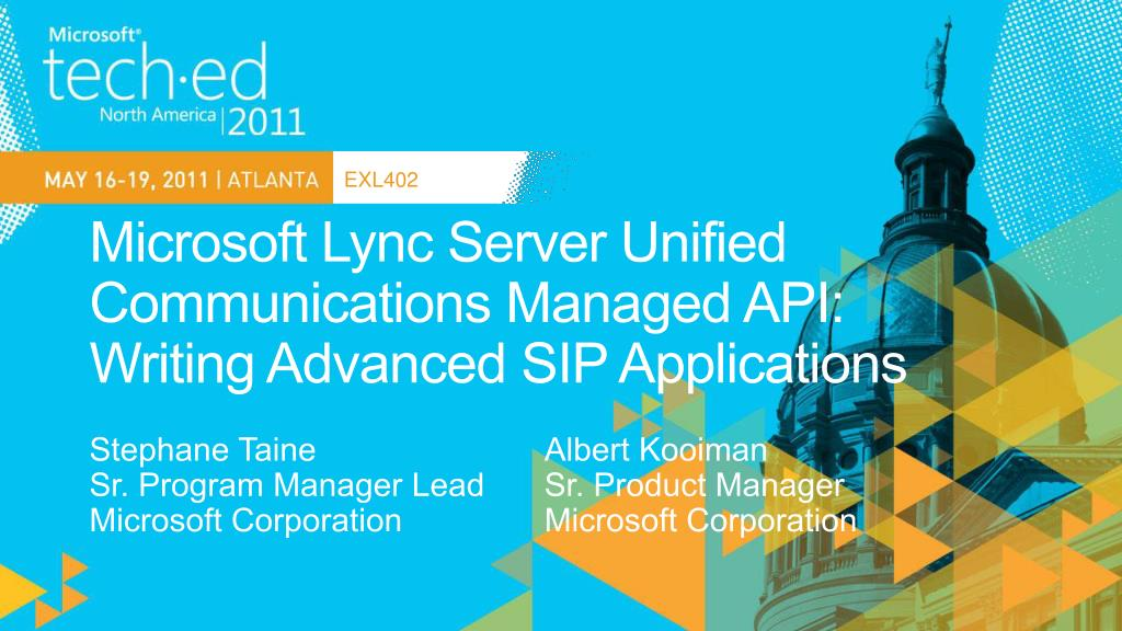 microsoft lync server unified communications managed api writing advanced sip applications l.