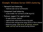 example windows server 2003 clustering