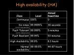 high availability ha41