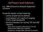 software load balancer
