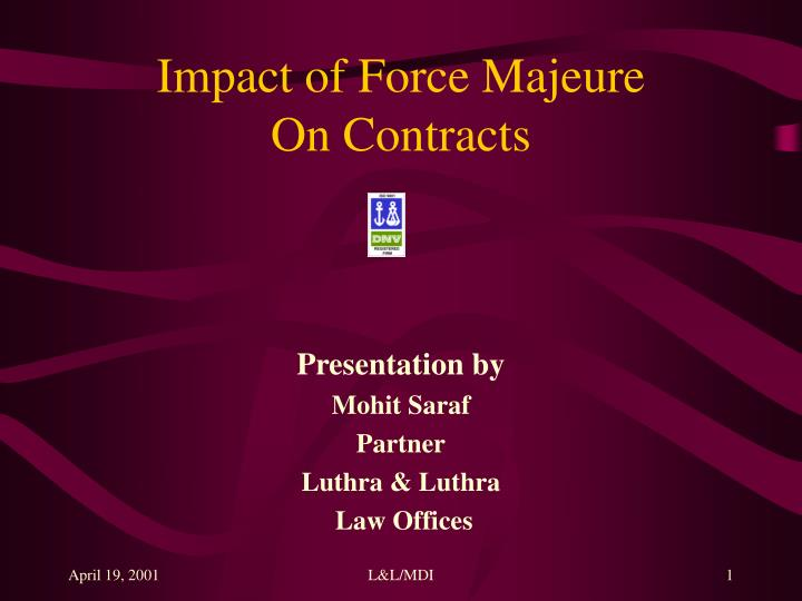 impact of force majeure on contracts n.