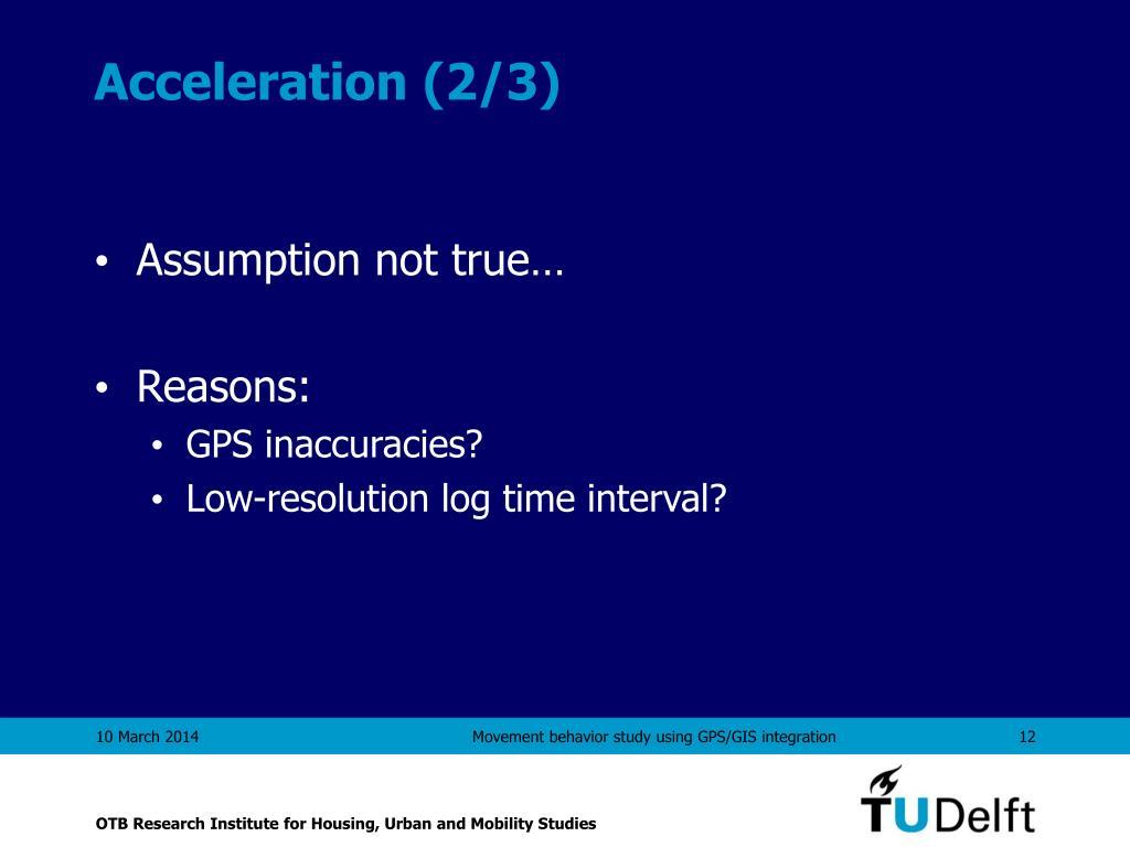 Acceleration (2/3)