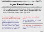 agent based systems