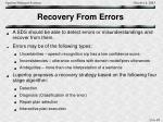 recovery from errors