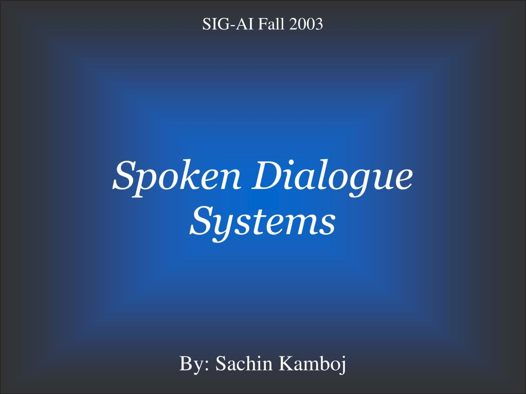 spoken dialogue systems l.