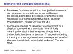 biomarker and surrogate endpoint se