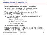 measurement error in biomarker