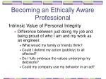 becoming an ethically aware professional