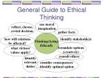 general guide to ethical thinking