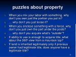 puzzles about property