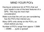 mind your poi s