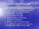 scba mandatory use7