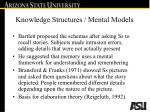 knowledge structures mental models20