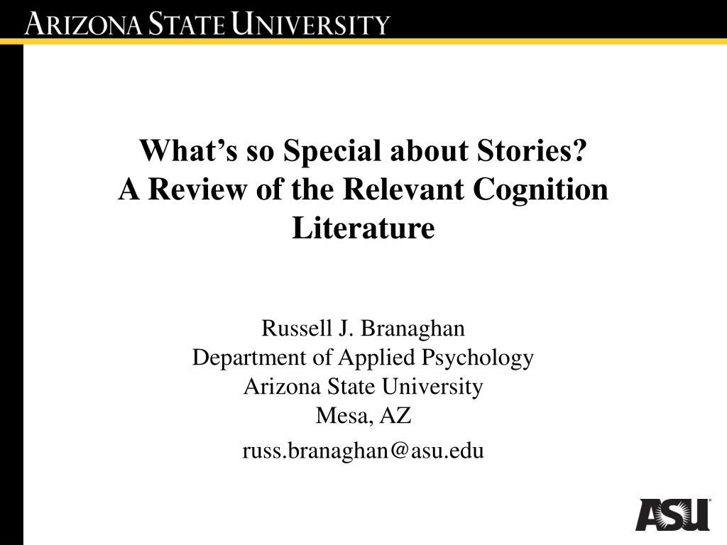 what s so special about stories a review of the relevant cognition literature l.